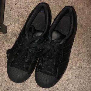 All Black Adidas Superstar